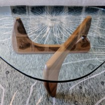"**ITEM NOW SOLD** Herman Miller Noguchi coffee table, purchased in 2007. Walnut base. 50"" x 36"" x 16""h. Current List: $1.895. plus shipping. Modele's Price: 1150.-"