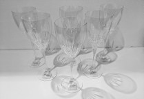 """Set/6 Kate Spade New York 'Cypress Point"""" goblets. Never used, just out of boxes. 9.5""""h Current List: 240.- set/6 Modele's Price: 95. set/6 (two sets/6 available)"""