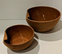 "Tiffany Elsa Peretti terra cotta Thumbprint bowls: Large: 10"" dia. 245.- Small: SOLD"