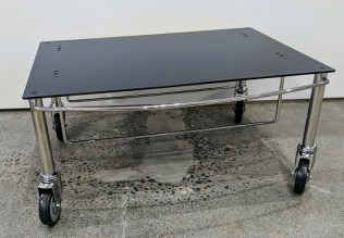 """de Padova Low Trolley, never used in a home. 24.5""""w x 22.5""""d x 11""""h. 225.-"""