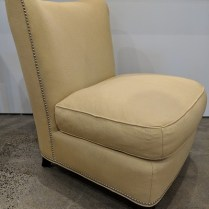 "**ITEM NOW SOLD** Baker Barbara Barry 'Slipper' lounge chair. Approx. 10 yrs. old, very little use. 28""w x 33""d x 34""h. Orig. List: approx: $2000. Modele's Price: 650.-"