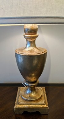 "Nancy Corzine #210 Garvin Urn table lamp. Purchased in 1999. Double socket. 31""h. 750.-"