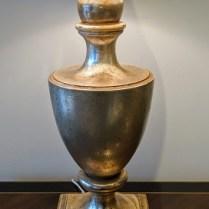"Nancy Corzine #210 Garvin Urn table lamp. Purchased in 1999. Double socket. 31""h. 595.-"