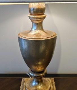"Nancy Corzine #210 Garvin Urn table lamp. Purchased in 1999. Double socket. 31""h. 650.-"