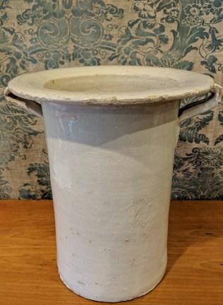 "Antique ceramic vase from Lee Stanton, Los Angeles. 13.25""w x 12""d x 14.25""h Original List: $1,100. Modele's Price: 495.-"