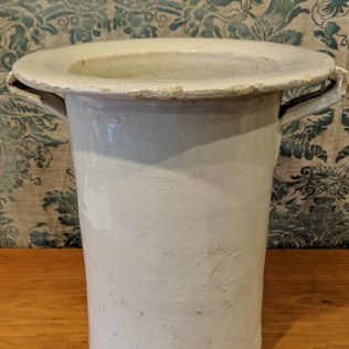 "Antique ceramic vase from Lee Stanton, Los Angeles. 13.25""w x 12""d x 14.25""h Original List: $1,100. Modele's Price: 225.-"