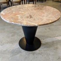 "**ITEM NOW SOLD** Bieffeplast 'Cono' table base c. 1980's. Desgined by Joe d'Urso. Includes marble top (not original). 39"" dia. x 28.5""h. 495.-"