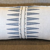 "**ITEM NOW SOLD** Coral & Tusk, navy quill pillow, purchased from One Kings Lane. Never used, 31""w x 16.5""h. Original List: $260. Modele's Price: 135.-"