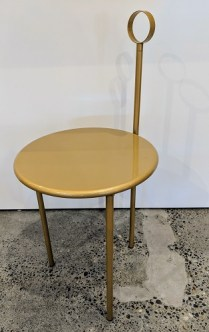 "'Mickville' vintage folding side table by Aleph-Ubik (an early Philippe Starck company). 15""w x 16.5""d x 32""h. 125.-"
