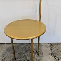 "**ITEM NOW SOLD** 'Mickville' vintage folding side table by Aleph-Ubik (an early Philippe Starck company). 15""w x 16.5""d x 32""h. 95.-"