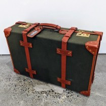 "**ITEM NOW SOLD** Papworth 26"" trunk suitcase, never used. Purchased in England in the 1980's. 26""w x 8""d x 17""h. Orig. List: $2000.-3000. Modele's Price: 295.-"