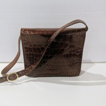 **ITEM NOW SOLD** Tutti Dell'Acqua Milano crocodile handbag. Purchased from Neiman Marcus. Orig. List: $1,785. purchased on sale for $1195. (never used). Modele's Price: 595.-