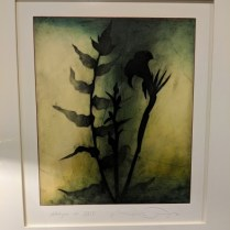"**ITEM NOW SOLD** 'Halcyon #24' Encaustic painting on rag paper by Mark Rediske. Purchased from the Foster White Gallery. 28""w x 31.5""h. Orig. List: $1,600. plus framing. Modele's Price: 650.-"