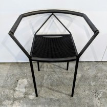 "Zeus 'Poltrocina' chair, designed by maurizio Peregalli in 1984. Purchased from Current in the 1980's. 21.5""w x 17""d x 26.75""h. 175.-"
