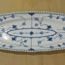 "**ITEM NOW SOLD** Royal Copenhagen Half Lace fish platter, 30 year old, discontinued piece. 23.5""l x 9""w 295.-"