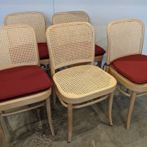 """Set/5 Ton #811 """"Prague"""" dining side chairs. Very light use. includes 4 chair pads. 17.75""""w x 19.75""""d x 31.75""""h. Current List: $2,250. set. Modele's Price: 1095. set/5"""