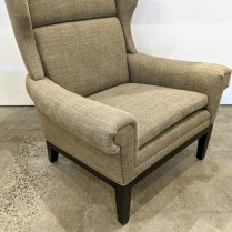 "**ITEM NOW SOLD** Cisco 'Lyto' contemporary wing-chair. 7 years old, very light use. 33.5""w x 32""d x 38.25""h. Orig. List: $2,700. Modele's Price: 795.-"
