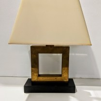 """Robert Abbey Doughnut lamp. Purchased in 2001. 15""""w x 8""""d x 20.5""""h. Current list: $378. Modele's price: 150.-"""