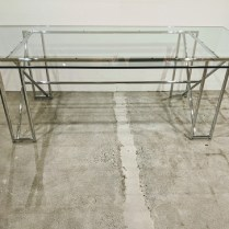 """Classicon Eileen Gray Double-X base dining table. Purchased in 2010. Made in Germany. 88.25""""l x 43""""d x 28.5""""h. Current list: $6,330. Modele's Price: 2950.-"""