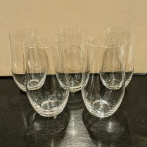 Set/5 Rosenthal 'Java' water glasses. Never used, includes original box. Orig. $245. set Modele's Price: 85.- set