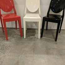 "Kartell Victoria Ghost side dining chair. Sold individually, one each: red, white, black. Purchased in 2009. 15.25""w x 18.25""d x 35.75""h. Current list: $380. each. Modele's Price: 190. each"