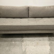 "**ITEM NOW SOLD** BluDot 'Paramount' sofa, purchased in 2016. Stainless steel legs. 80.25""l x 34.5""d x 33""h. Current list: $2,246. Modele's Price: 1100."