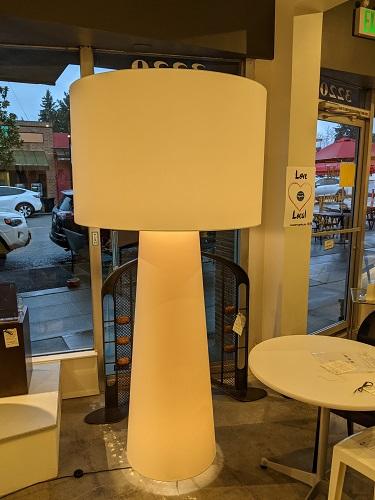 "Cappellini 'Big Shadow' XL floor lamp. 37.25"" dia. x 78.75""h. Current list: $3,250. Modele's Price: 1395."
