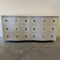 """Eloquence 'Gustavus' double dresser, 5 years old. 70""""l x 23""""d x 35.5""""h. Current list: $3,875. Modele's Price: 1950."""