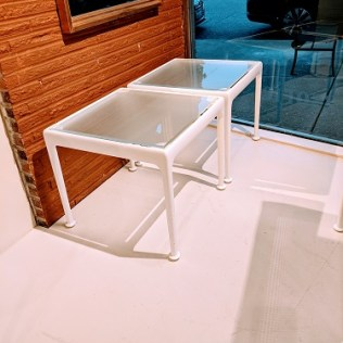 """Knoll Richard Schultz 1966 Collection outdoor end table. Two months old, never used. 18.5"""" sq. x 15""""h. Current list: $1,294. Modele's Price: 675. (2 available)"""