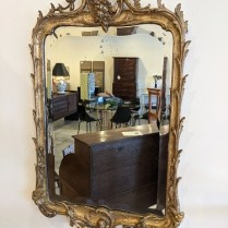 """Antique French mirror, purchased in Austin, TX in 2014. Hand-ground bevel edge. 22""""w x 36""""h. Orig. list: $3,850. Modele's price: 950."""