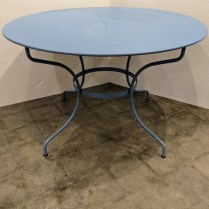 """Fermob (French co.) outdoor dining table. 5 years old, light use. 46"""" dia. x 29.25""""h. Current list: $770. Modele's Price: 395."""