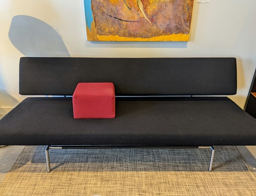 """Spectrum BR-02 sofa bed, purchased from Inform, Vancouver B.C. 18 years ago. Very light use. 75.5""""l x 32""""d x 26.5""""h. Current list: $5,664. Modele's Price: 1750."""