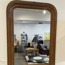 """Antique arched mirror, purchased from Red Ticking in 2017. 29.25""""w x 40""""h. Orig. list: $2,500. Modele's price: 695."""