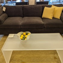 """**ITEM NOW SOLD** Villa Hallmark 'Danner' sofa with Baker mohair upholstery. 8 yrs. old, light use. 96.5""""w x 41""""d x 38""""h. Orig. list: $12,000.-15,000. Modele's price: 3950."""