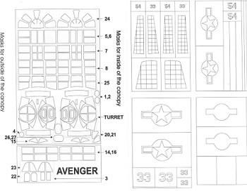 Montex K32019: TBM-3 Avenger, previewed by Scott Van Aken