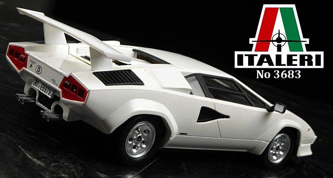 124 Italeri Lamborghini Countach 5000 Quattrovalvole