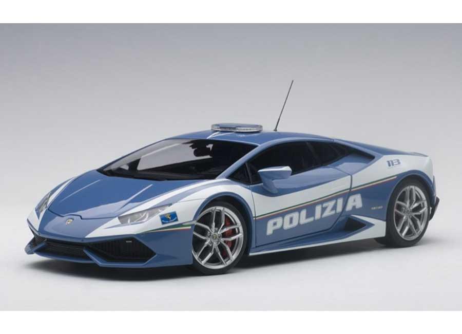 Modelcar Lamborghini Huracan Lp610 4 Police Car Polizia 2014