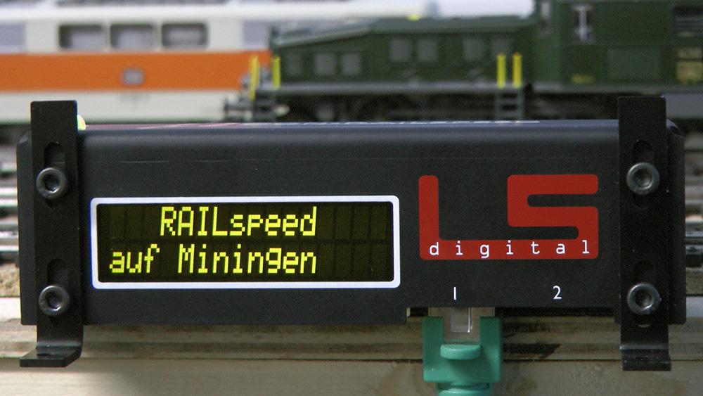 Railspeed auf der Modellbahn-Anlage Miningen