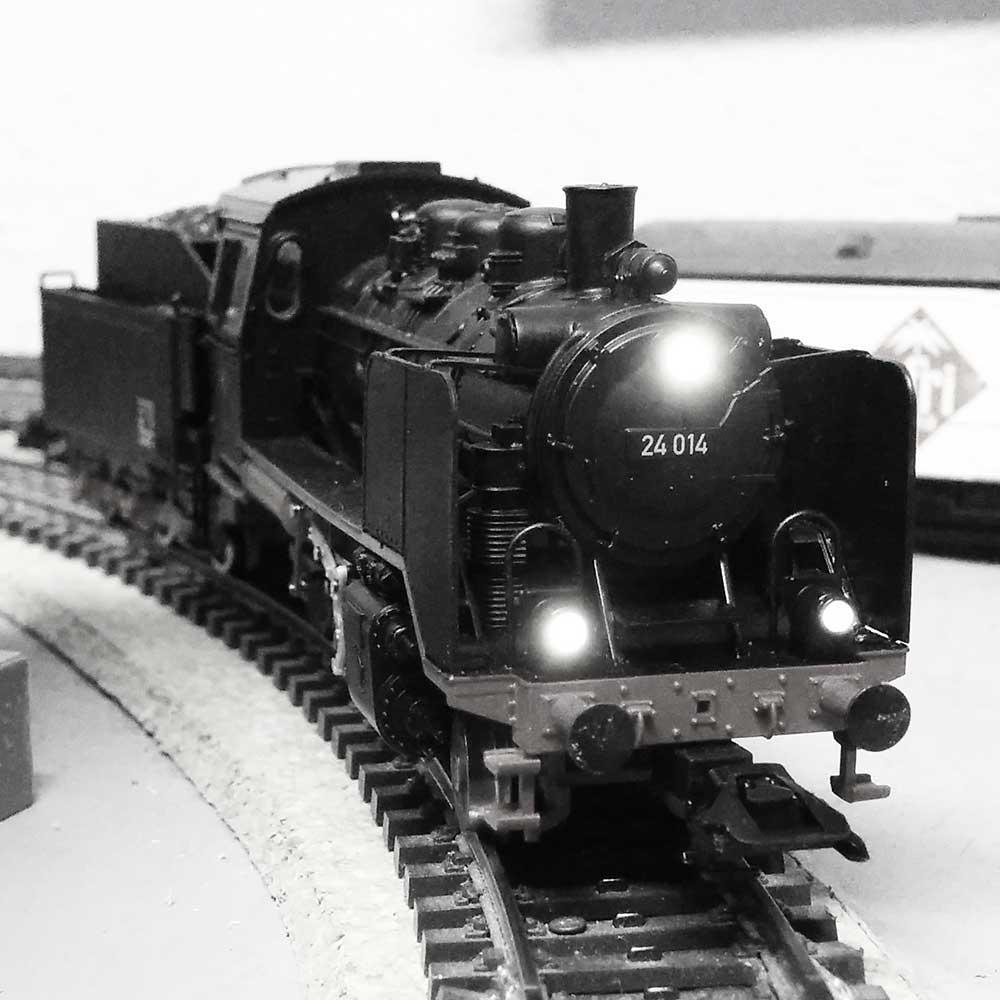 BR24 auf der Modellbahn-Anlage