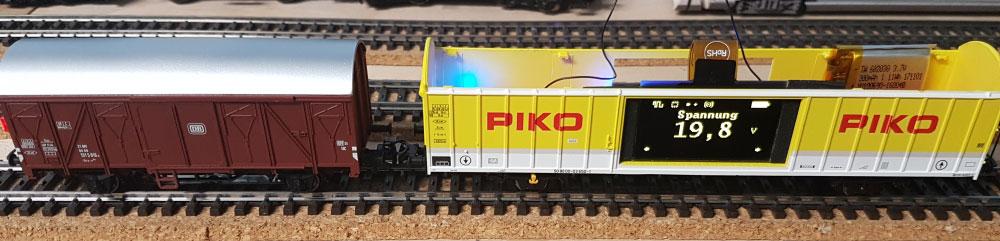 Umbau Piko Messwagen für Märklin 3-Leiter