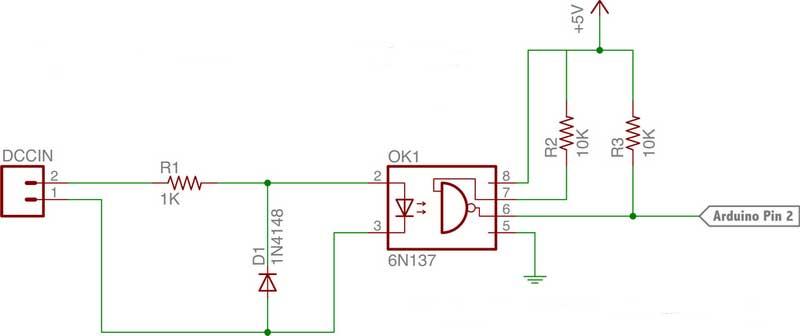 DCC an Mikrocontroller (z.B. Arduino) übergeben