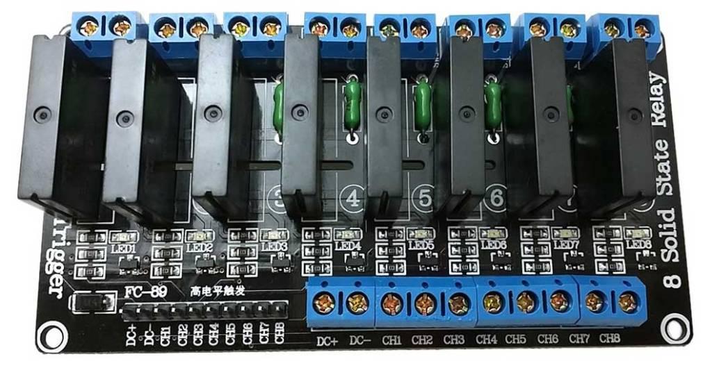 Platine zur Steuerung von 230 Volt mit 5 Volt (z.B. Arduino)