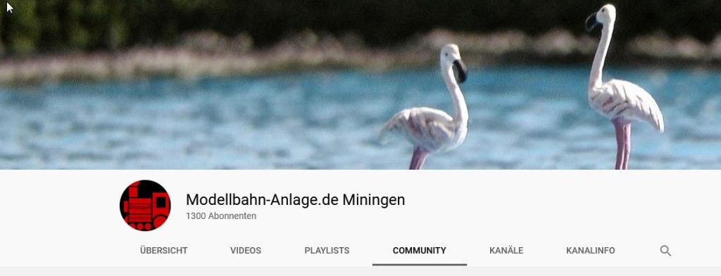1300 Abonnenten auf YouTube