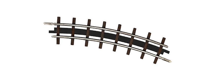 Busch 12332 Gauge H0f 2 Curved Tracks, Radius 175 mm, 22,5°