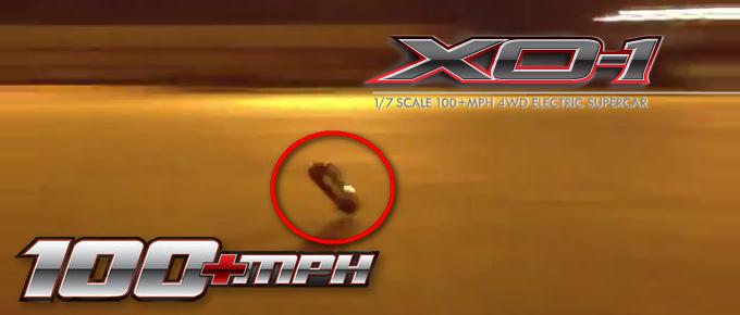 Traxxas XO-1 Brushless-Supercar hebt bei ~ 160km/h ab!