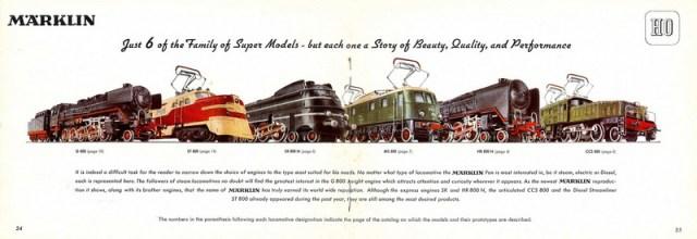 Englisches Märklin Katalog Bild 1950