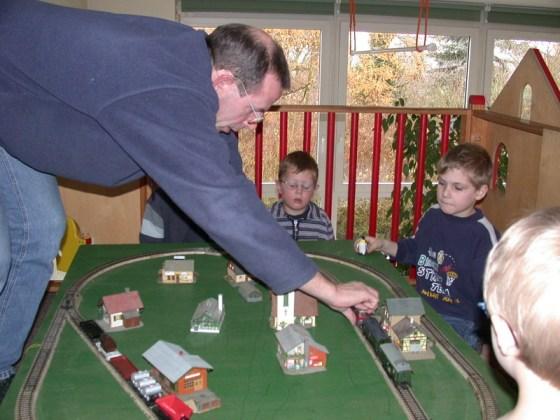 Eine Kindergarten Märklin Bahn