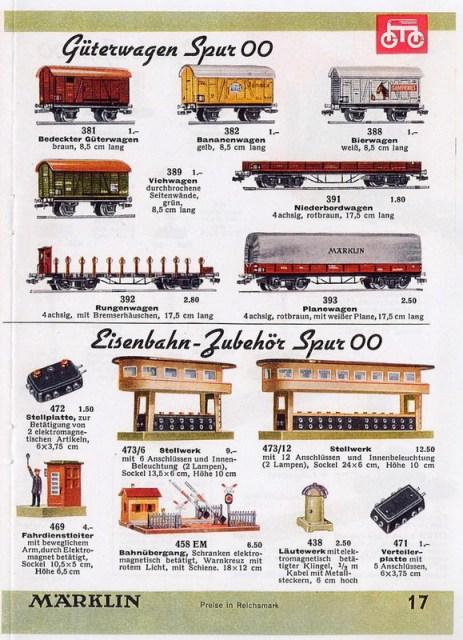 Märklin Stellwerk 473/6 und 473/12, Märklin Katalog 00, 1938