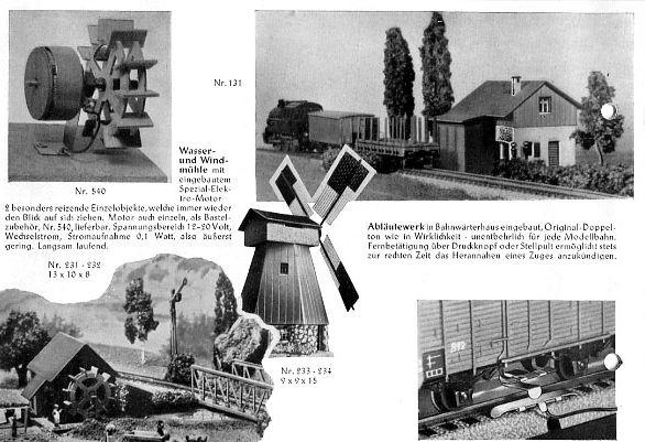 Auszug Faller Katalog 1952