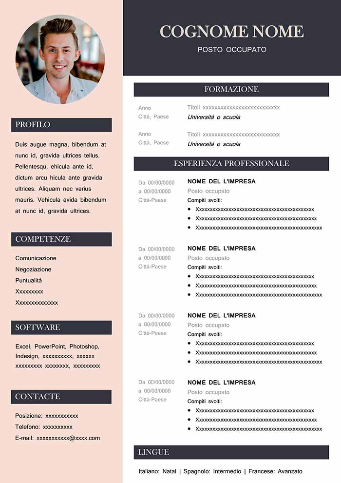 Online resume page
